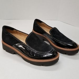 NATURALIZER WOMENS LEATHER PLATFORM LOAFERS